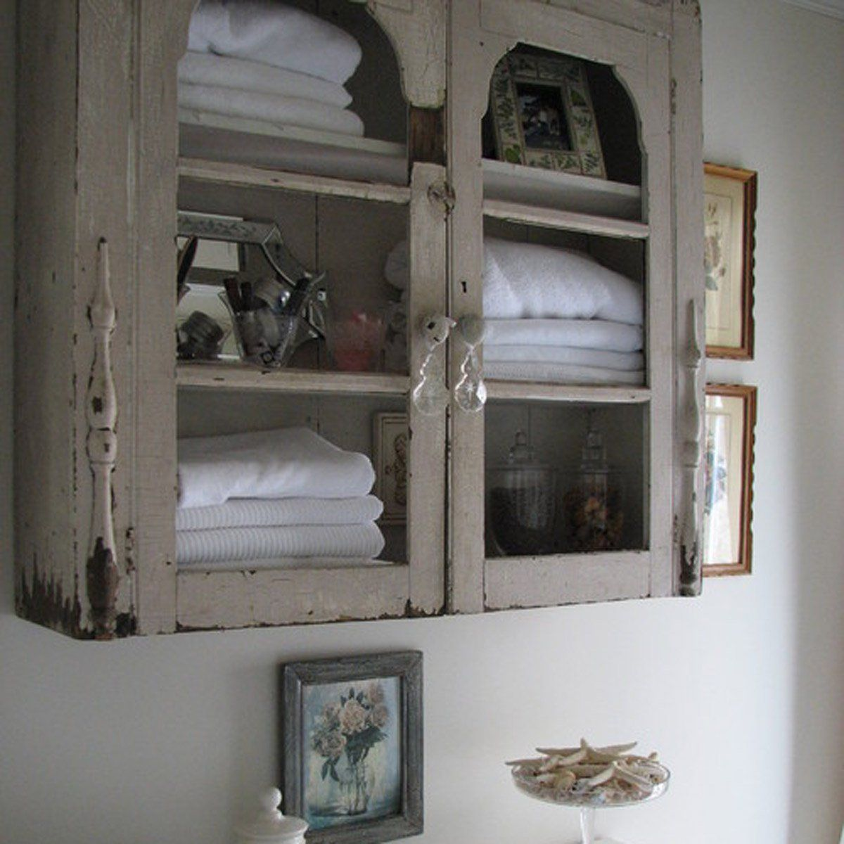 8 Ways To Reuse Your Old Kitchen Cabinets Shabby Chic Bathroom Shelves Over Toilet Bathroom Storage Over Toilet [ 1200 x 1200 Pixel ]