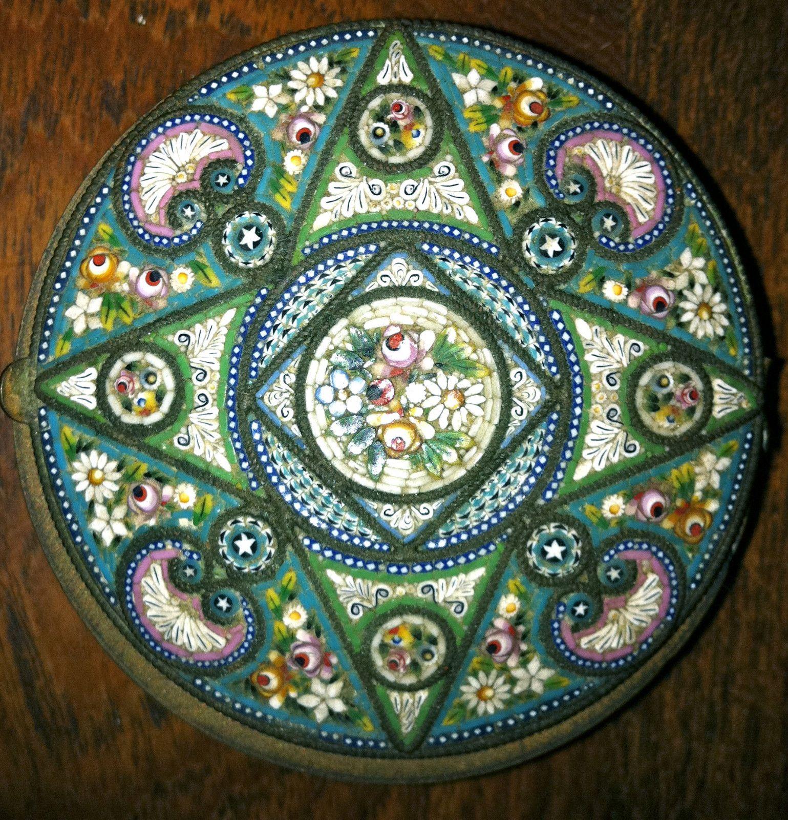 Small Pill Boxes Decorative Antique Italian Micro Mosaic Pill Box  Pill Boxes Mosaics And Box