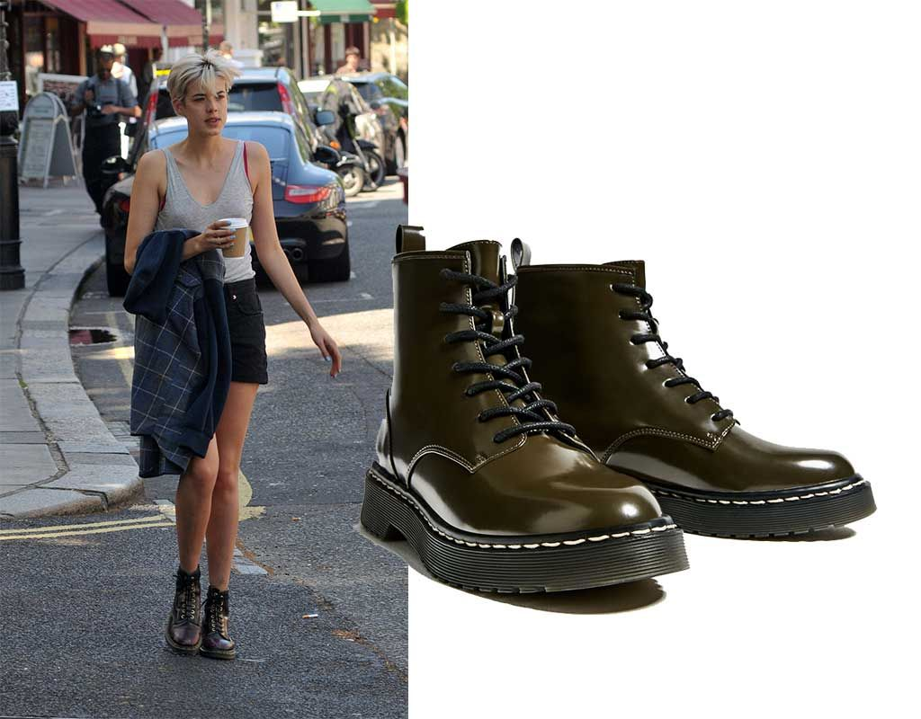 Dr Martens boots (Left) vs. Low Cost by Zara (Right). Boot Trends Fall 2016. Botas Dr Martens (Izq) vs. Versión Low Cost de Zara (Der.) Tendencia de Botas, Otoño 2016