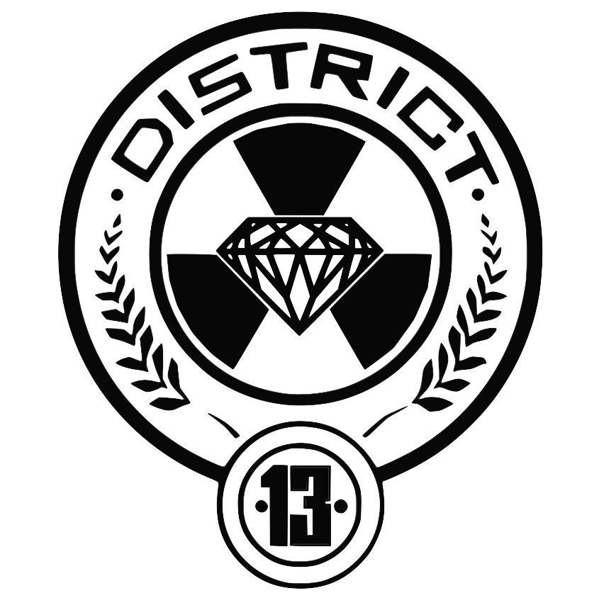 District 13 Seal Jpg 845 837 Hunger Games Logo Hunger Games Symbol Hunger Games Districts