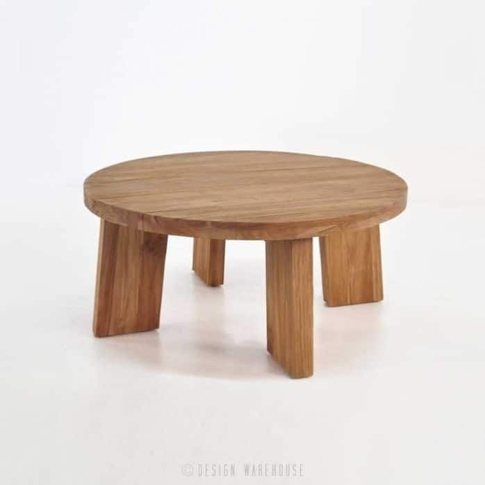 Round Reclaimed Teak Coffee Table-0 | Teak coffee table ...