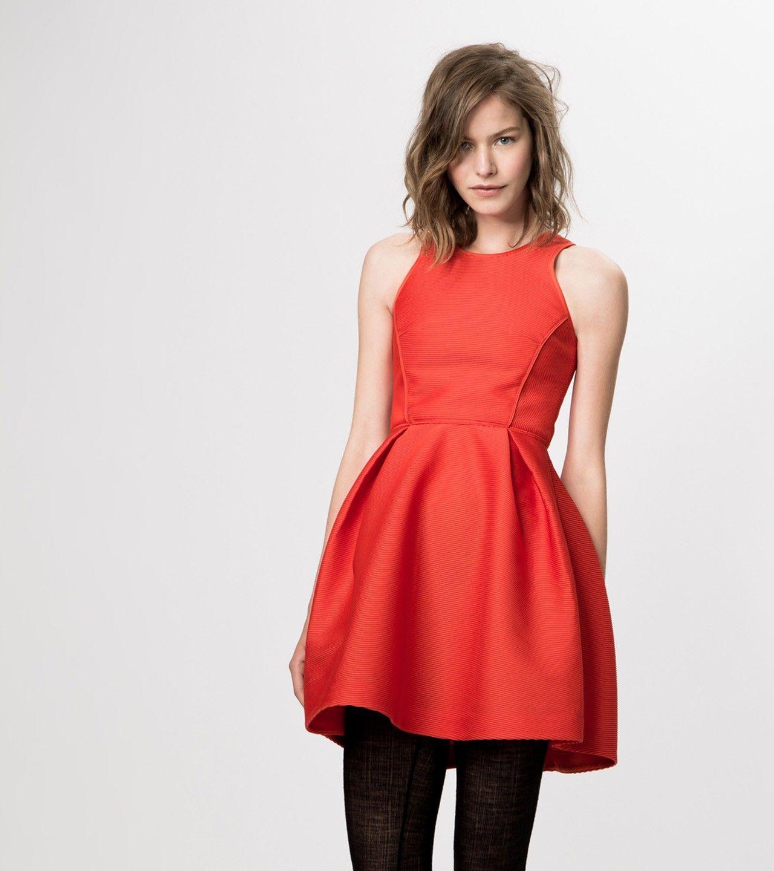 maje GREASE Ribbed Dress at Maje US