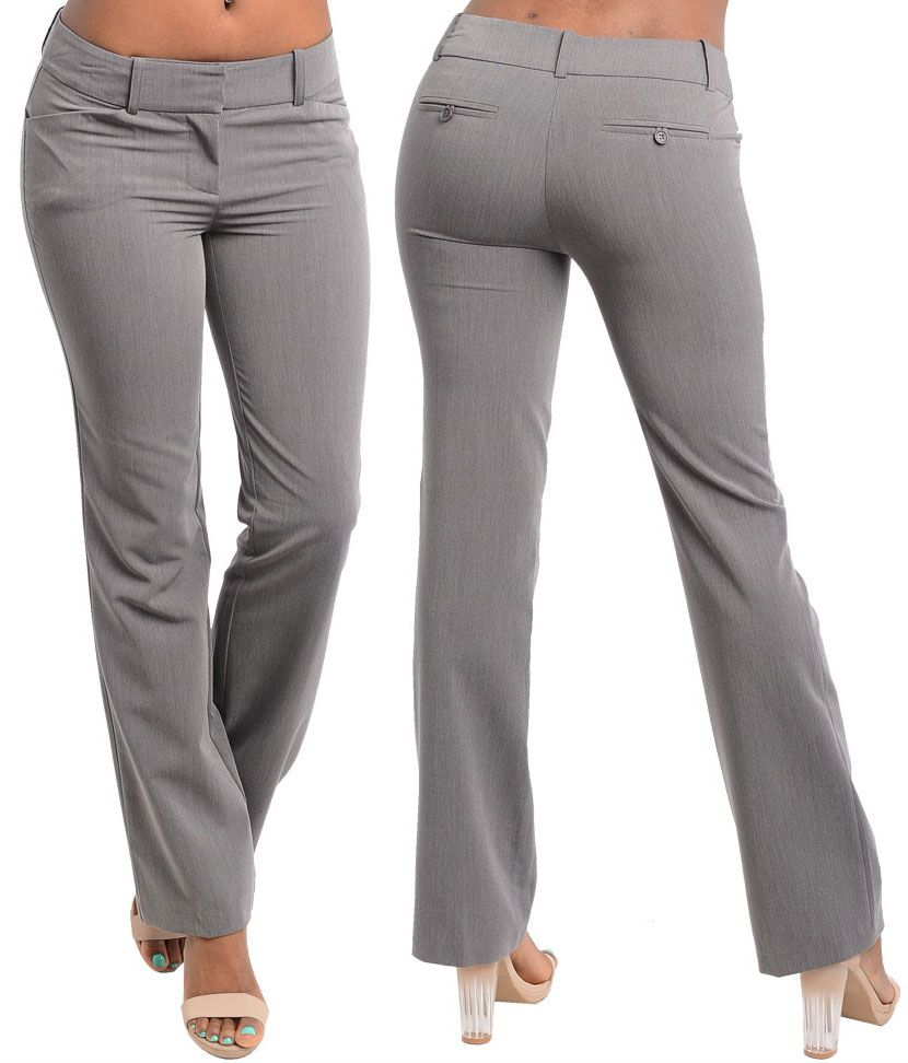 9a35a0b5d34 NEW LADY SEXY Bootleg CASUAL SLIM OFFICE TROUSER SLACKS Dress Pants S-L