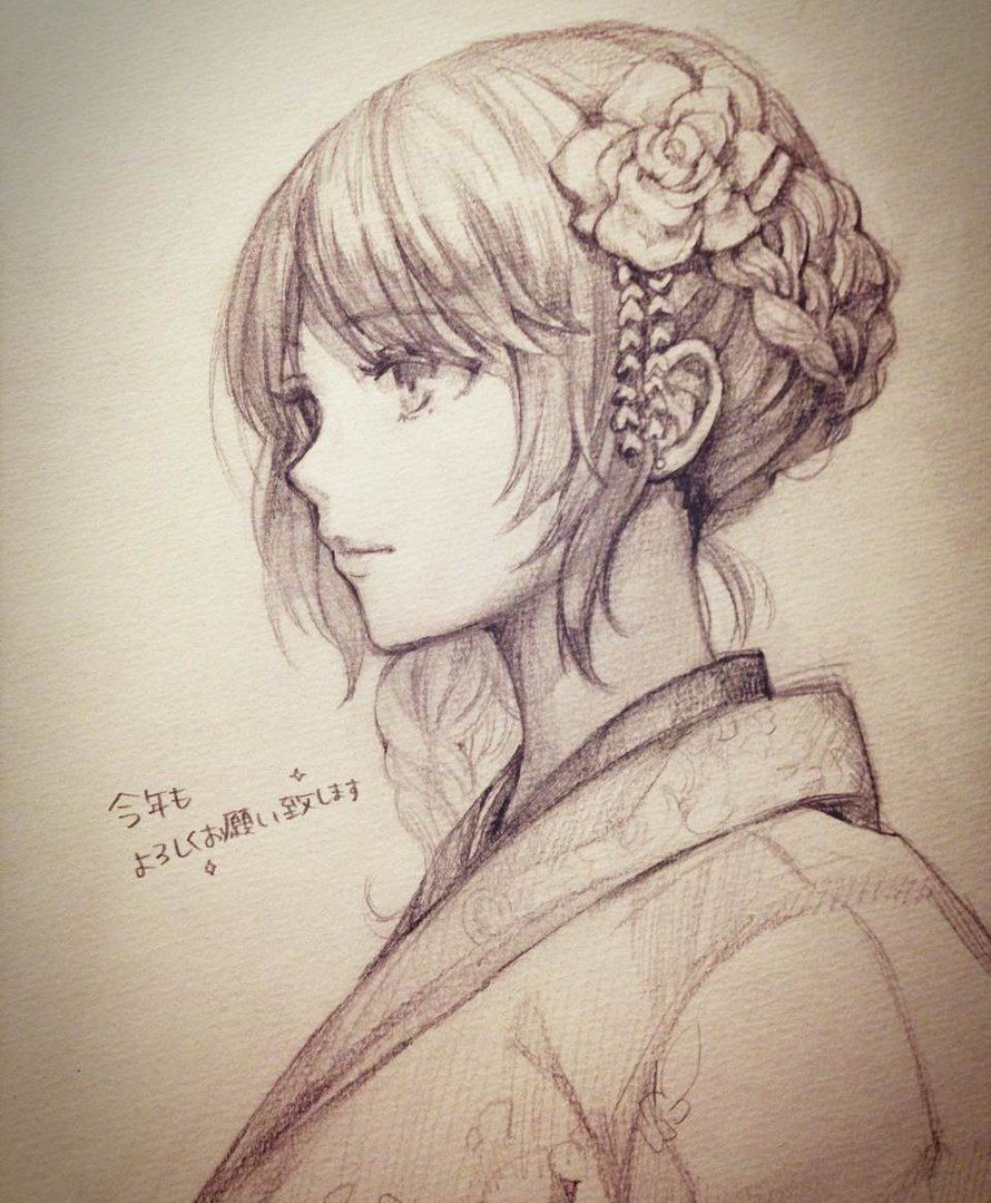 Картинки японских девушек для срисовки, учителю