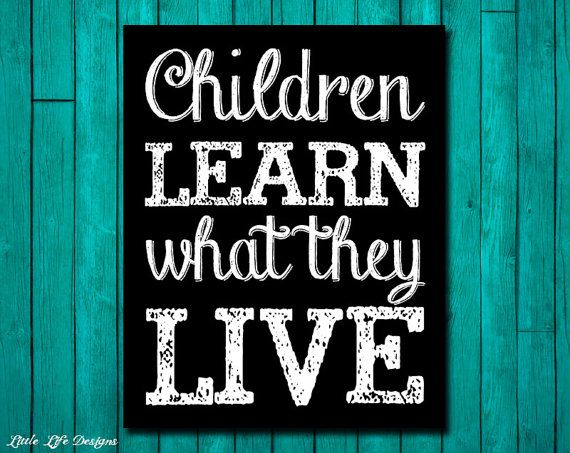 Children Learn What They Live - Inspirational Sign - Home Decor - Motivational Words - Wall Decor - Parental Advice for Raising Children on Etsy, $6.81 CAD