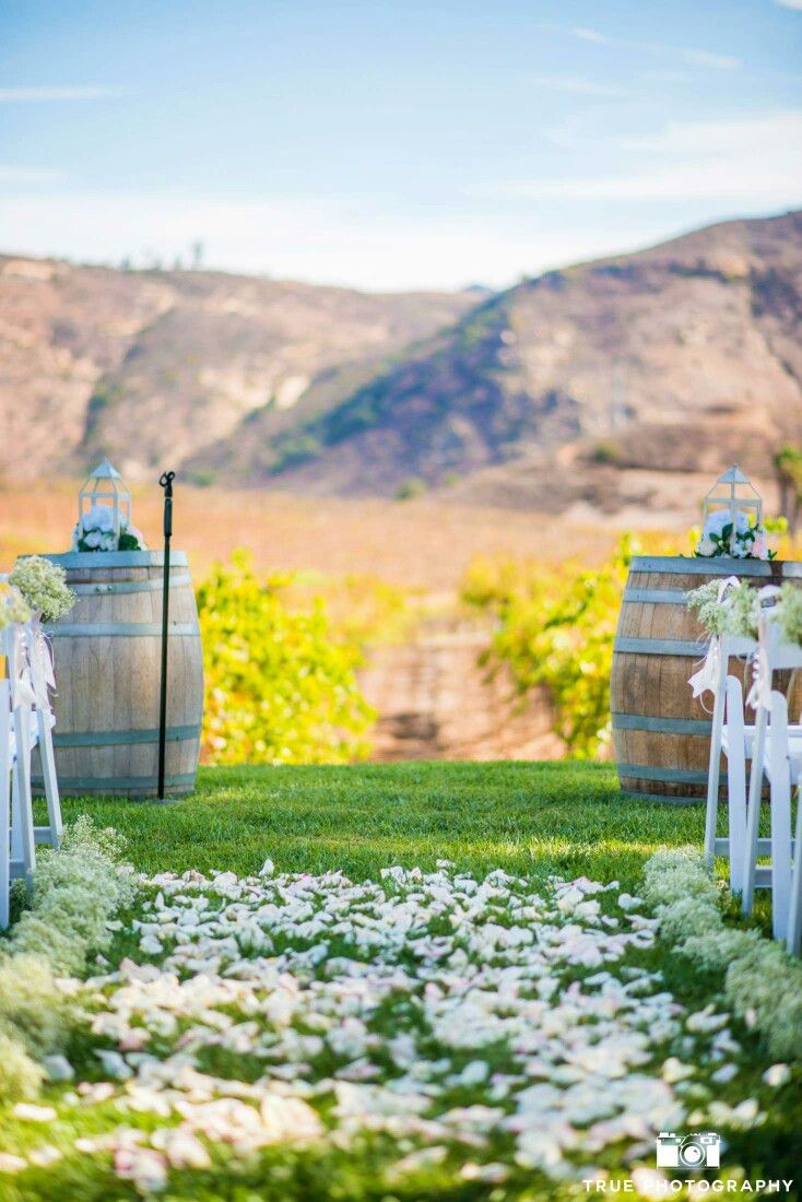 Orfila Vineyard And Winery Escondido Ca Wedding