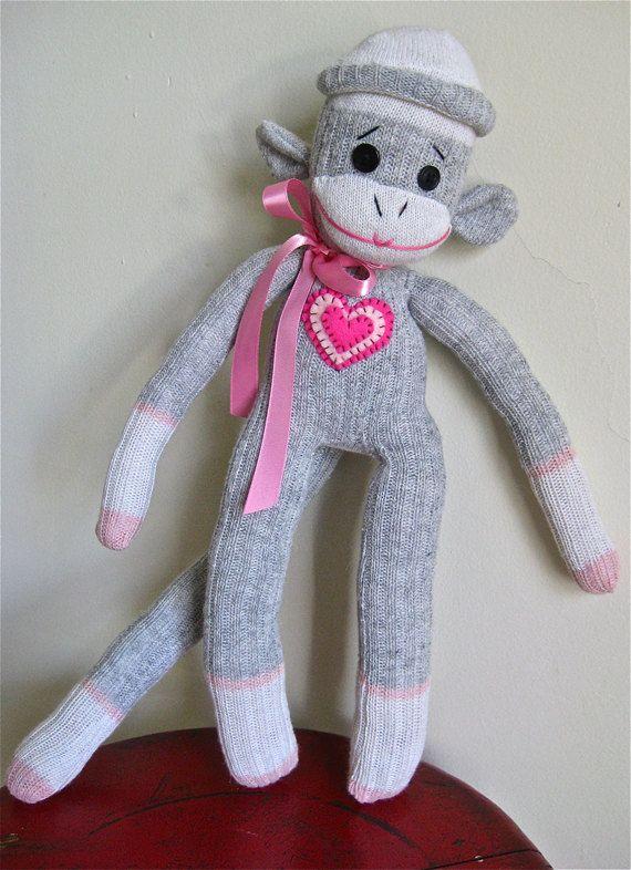Sock Monkey Sally | Zubehör, Tier und Nähen