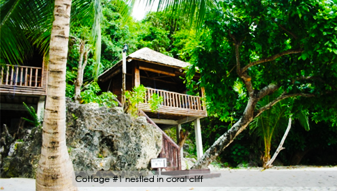 Cliff beach cottage accommodation from trip to the Philippines.