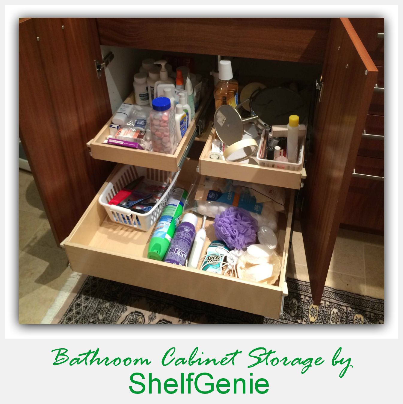 Add Pull Out #shelves To Your Existing #bathroom #cabinets And Ease Your  Way Into Your Morning And Evening Routines. #smartstorage