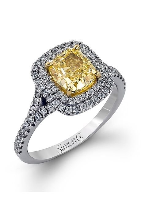 Style Mr2414 18k White And Yellow Gold Engagement Ring 3 740