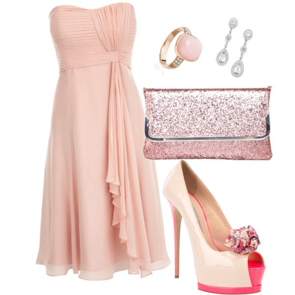 shades of pink and silver...