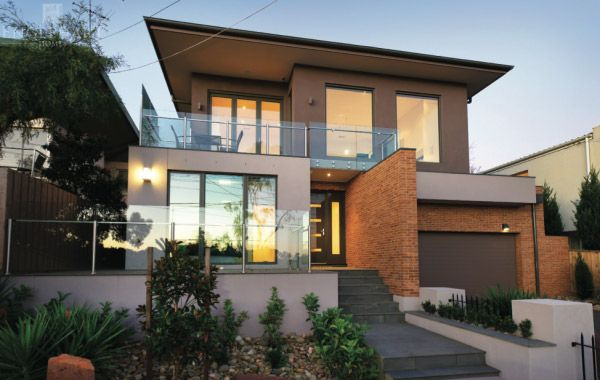 Sloping Blocks Perfect Database Facade House House House Styles