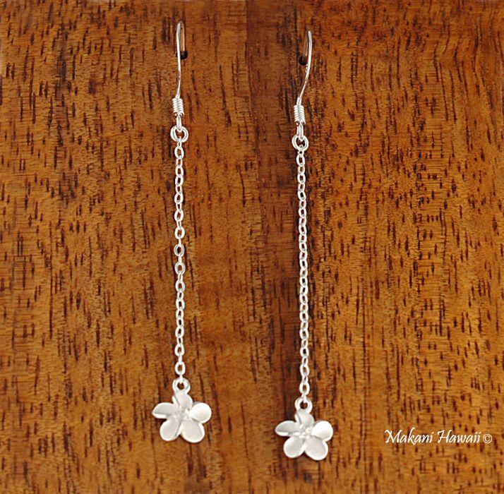 Chain 8mm Flower Hook Earring - Makani Hawaii,Hawaiian Heirloom Jewelry Wholesaler and Manufacturer
