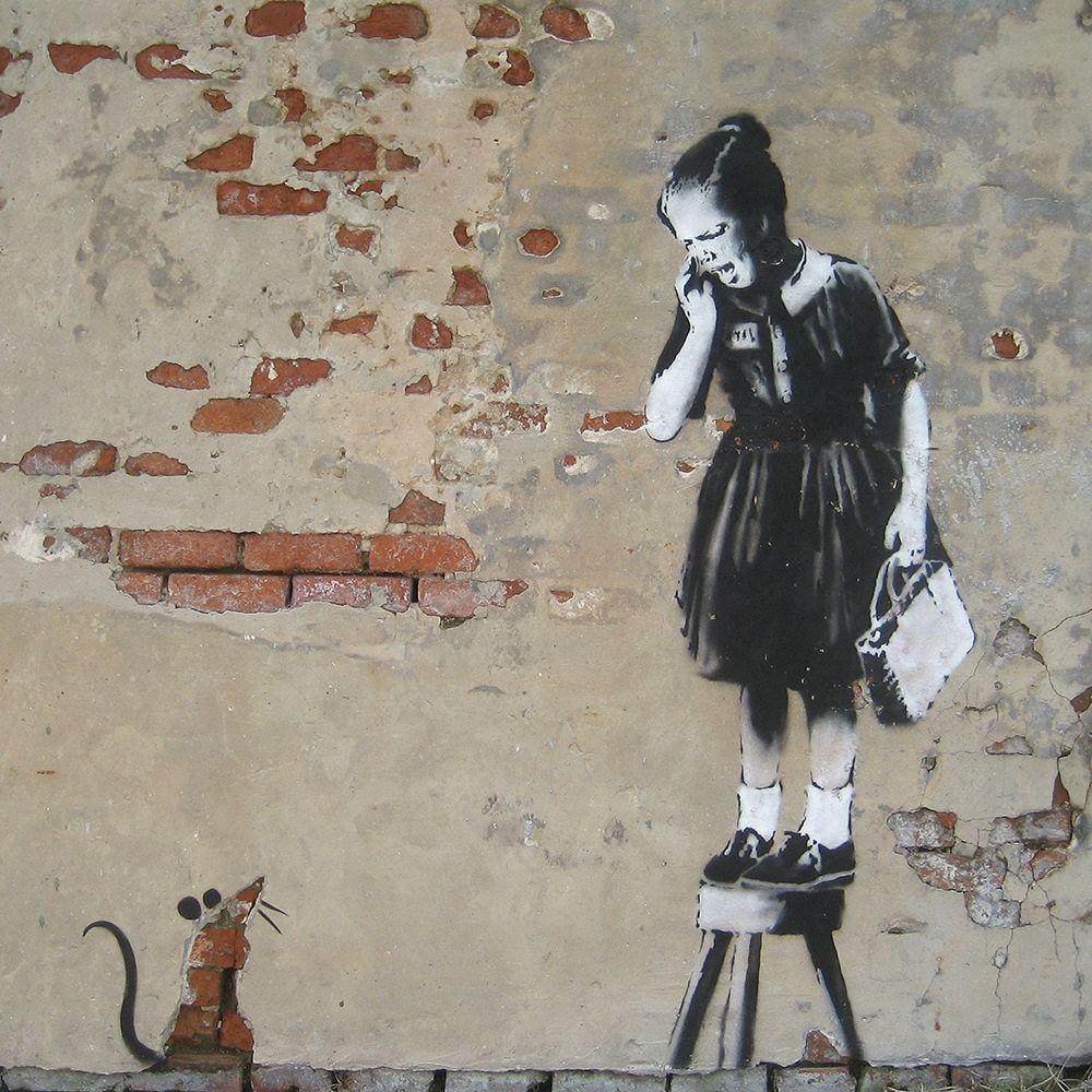 Balloon Girl Banksy Street MULTI Leinwand Wand Kunst Bild drucken