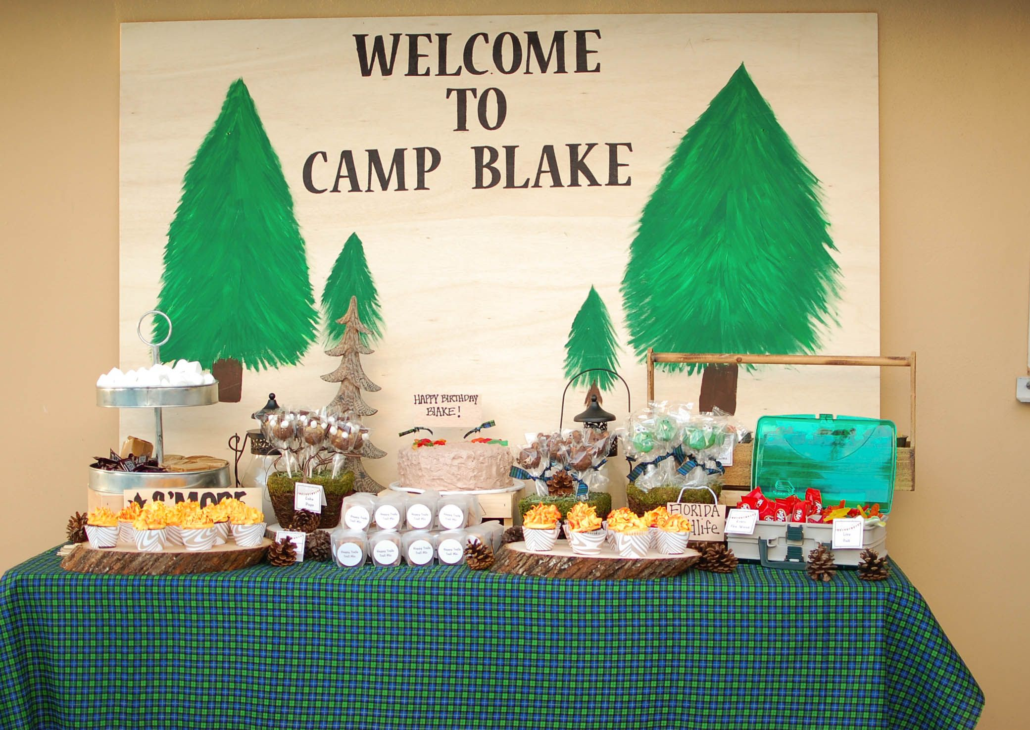 when i came across a camping birthday party styled by the pear