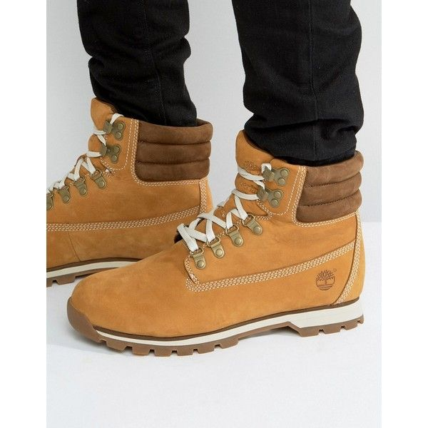 Timberland Hutchington Hiker Boots (275 CAD) ❤ liked on Polyvore featuring  men's fashion, men's shoes, men's boots, men's work boots, tan, mens lac…