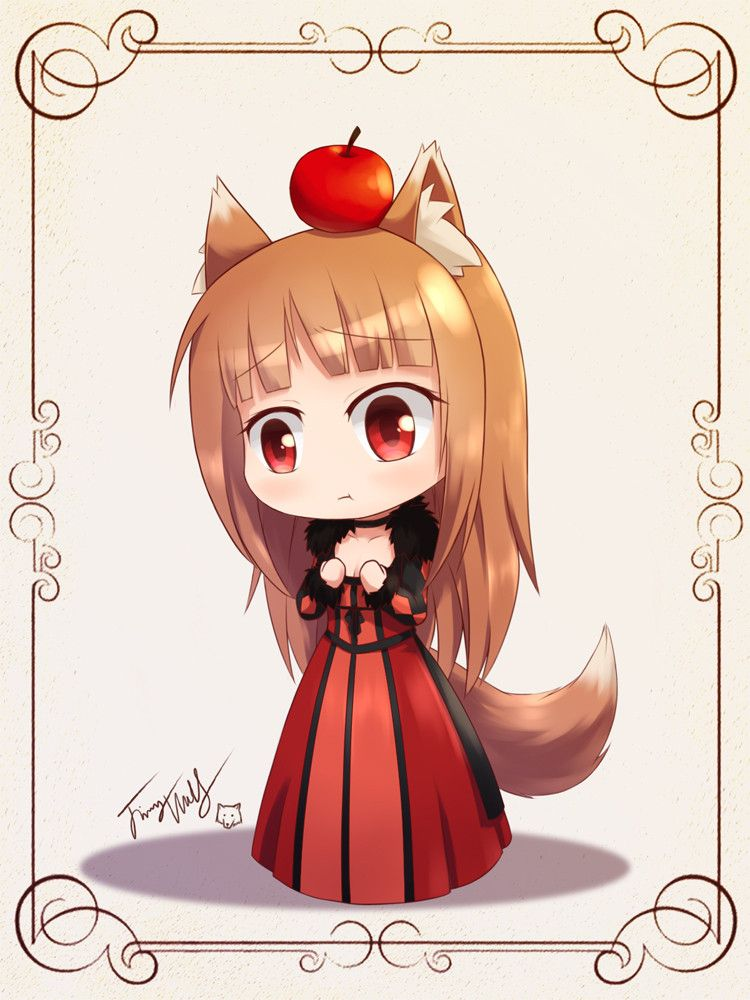 Holo in Maou's costume... i wonder why she bothered by the size of her chest? coz i found her cuter anyway <3