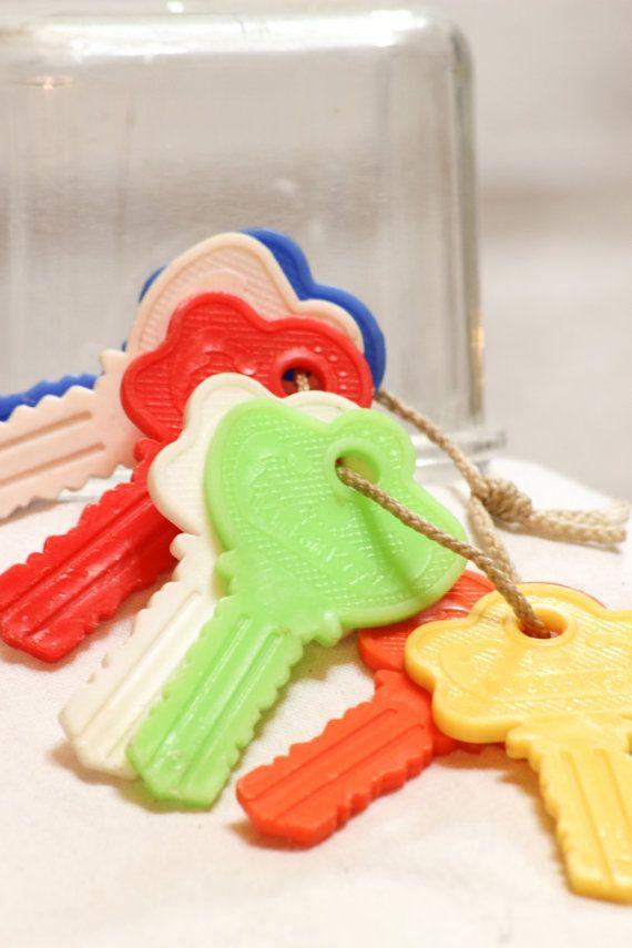 Vintage KLICKUM KEYS Baby Toy by CabinOn6th on Etsy, $7.00