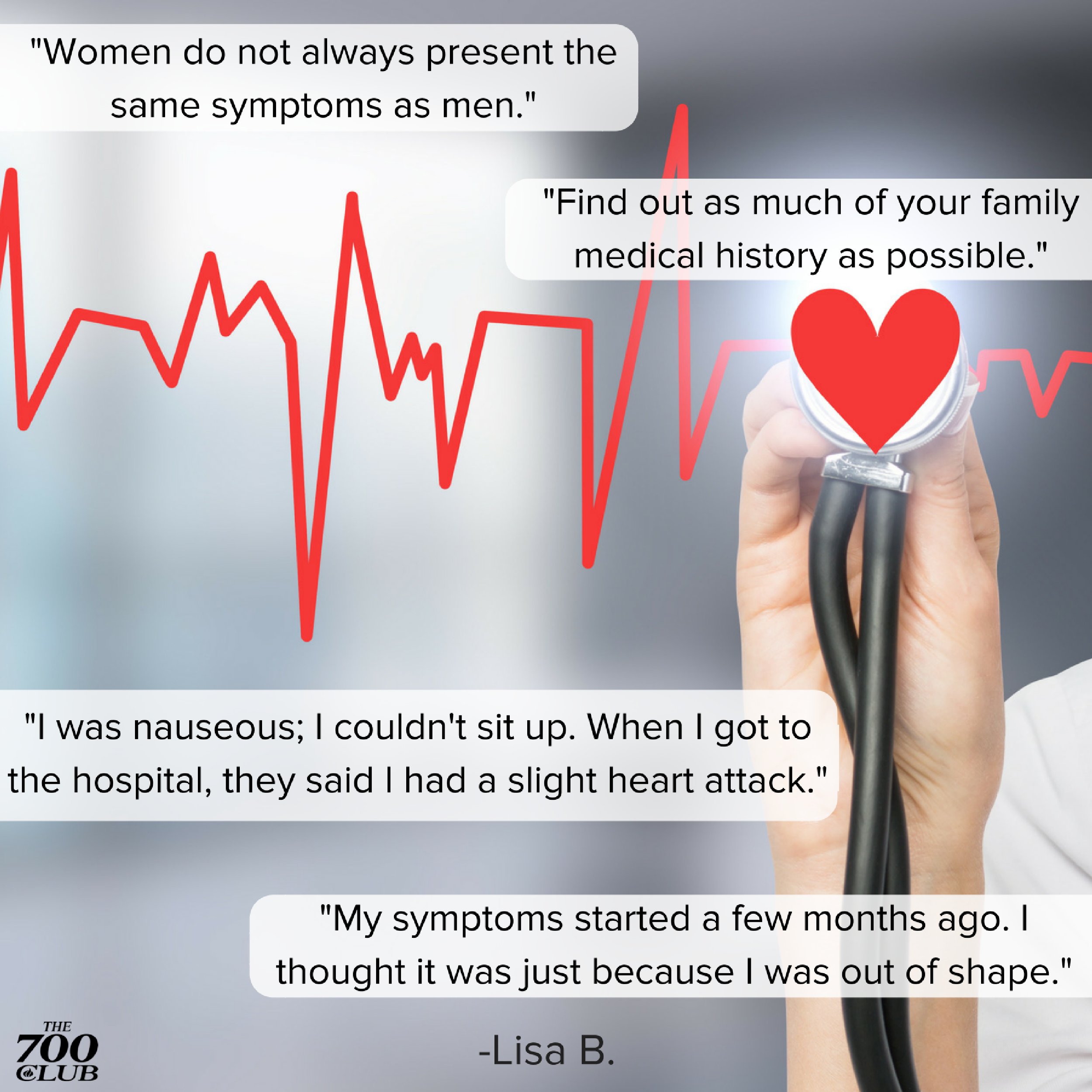 Take A Stand Against Heart Disease The Quotes Below Are From An Actual Heart Attack Survivor She Reminds Us Protect Your Heart Family Medical Medical History