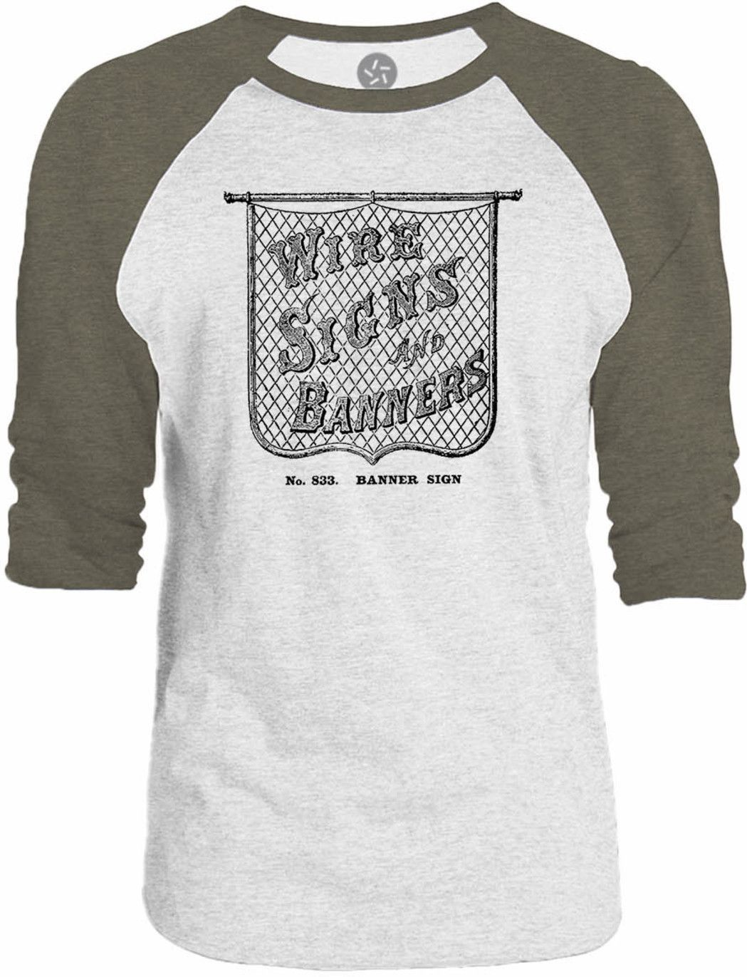 Big Texas Old Wire Sign 3/4-Sleeve Raglan Baseball T-Shirt