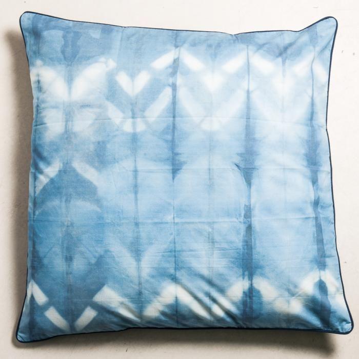 Kussen, katoen/canvas, blauw, 100 x 100 cm