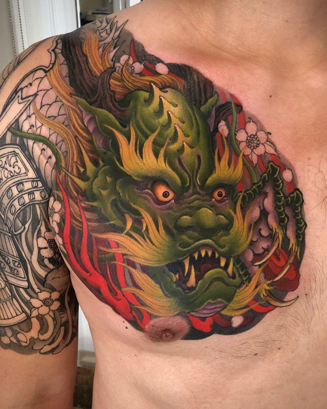 dragon. #art #picoftheday #torontoart #ink #torontotattoo #mithraneedle #toronto #tattoo #tattoos #c