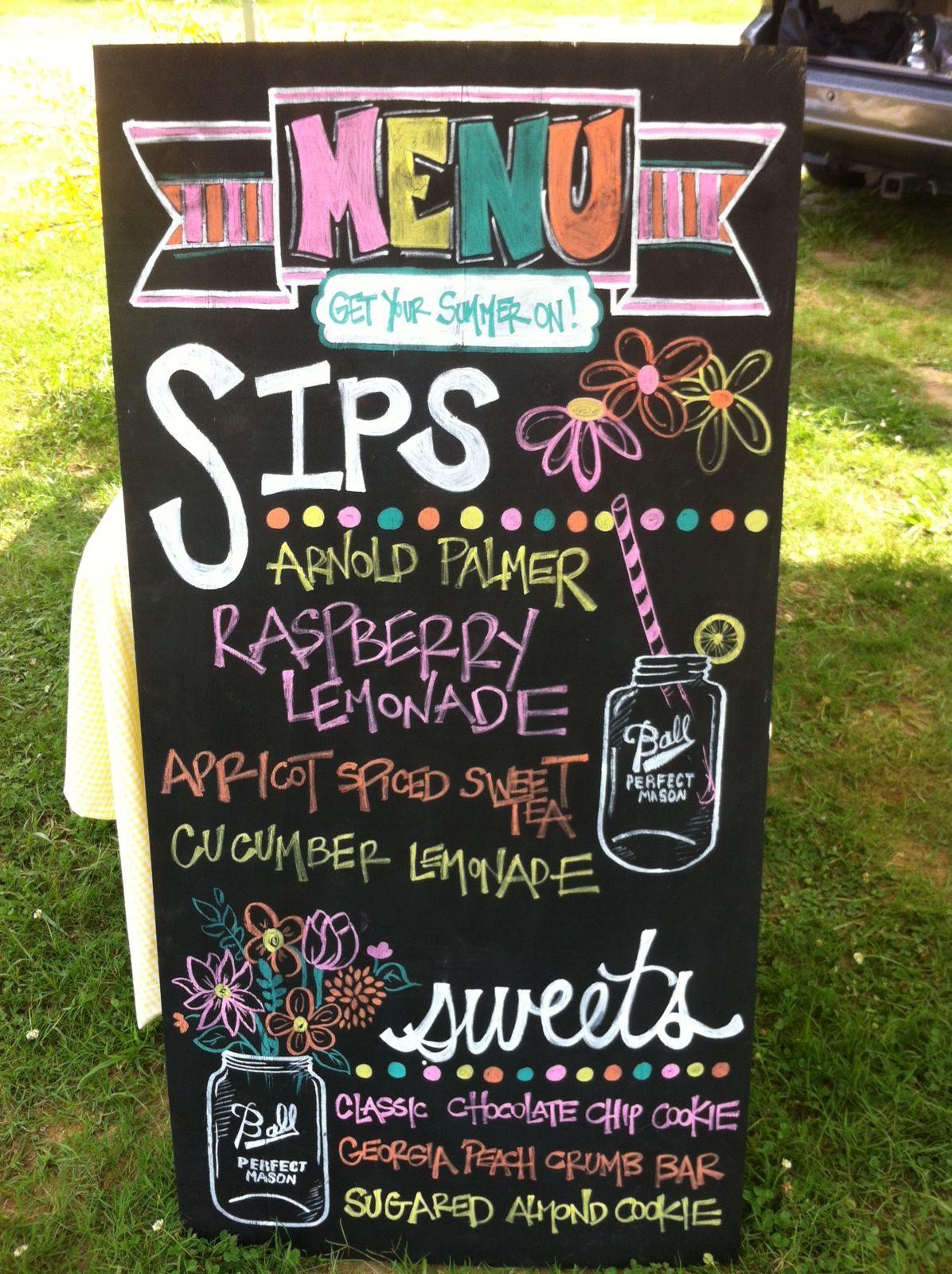 Chalkboard Lemonade Stand Menu A Thousand Words Kids