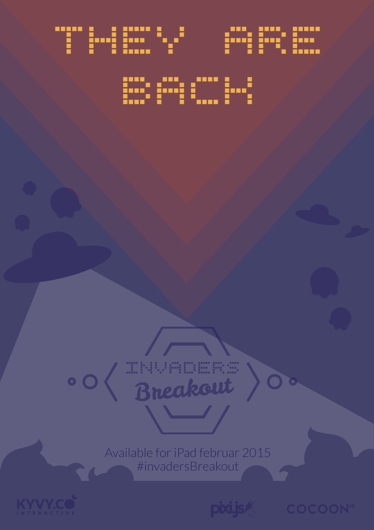 #invadersBreakout promotion screen 01 #ios Game made with #html5 https://itunes.apple.com/us/app/invaders-breakout/id956446467?l=de&ls=1&mt=8