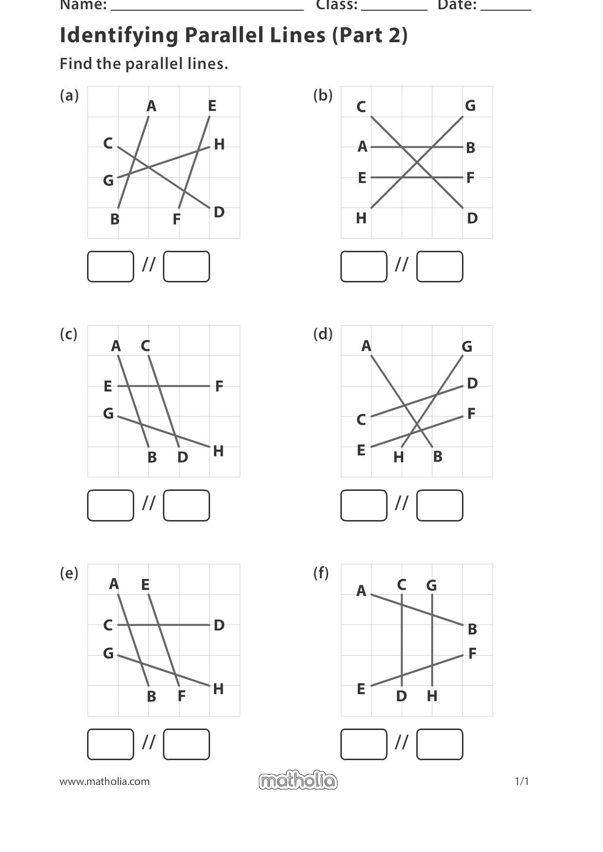 Identifying Parallel Lines Part 2 In