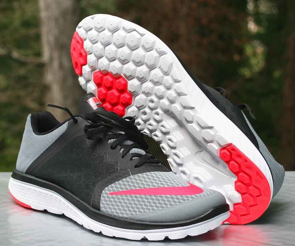 14532c3a966 Men's Nike FS Lite Run 3 Running Shoe Size 11.5 Cool Grey Crimson  807144-002 #Nike #RunningCrossTraining