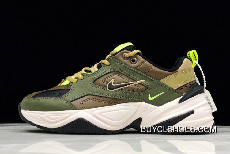 Women Men Nike M2K Tekno Medium Olive Black-Yukon Brown AO3108-201 Top Deals 946ac8de7d