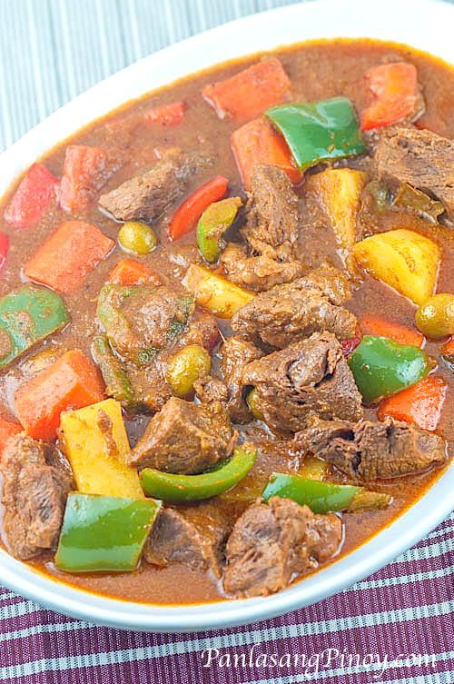 Beef Kaldereta or Caldereta is one of the top Filipino Recipes cooked during Fiesta and birthdays. Learn how to cook this dish through our easy step by step procedure.
