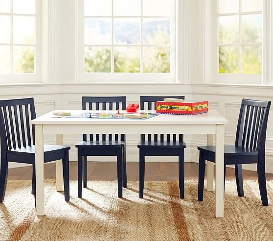 Magnificent Carolina Large Table 4 Chairs Set Pottery Barn Kids Lamtechconsult Wood Chair Design Ideas Lamtechconsultcom