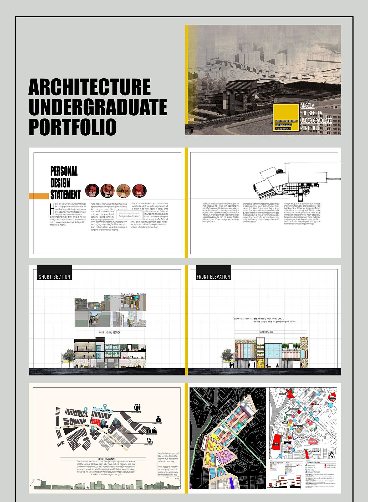 This is my architecture undergraduate portfolio .