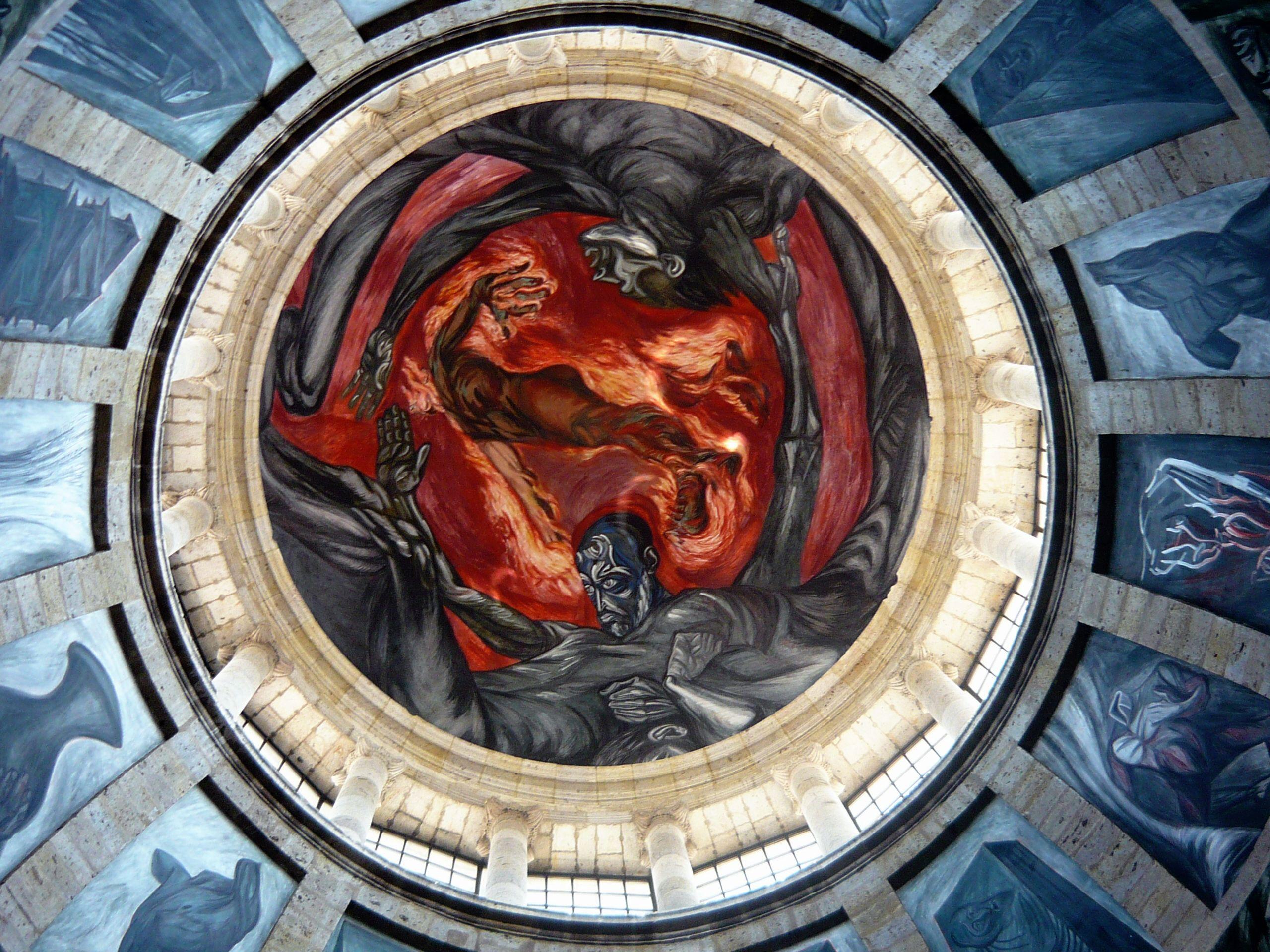 Image result for Hombre de fuego by José Clemente Orozco Instituto Cultural Cabanas