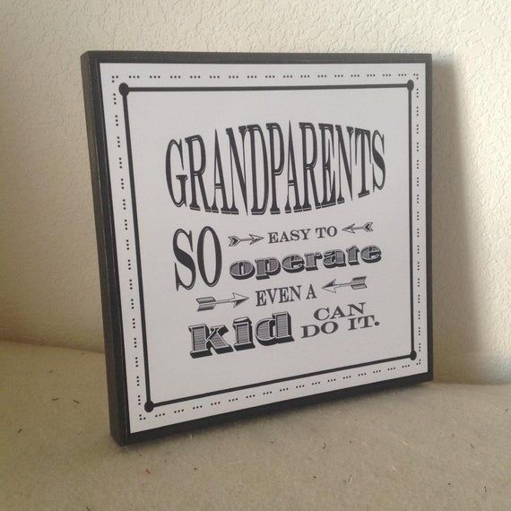 Grandparent's Day Sign, Mother's Day Gift, Grandparents So Easy To Operate, Father's Day, Grandparen #grandparentsdaygifts
