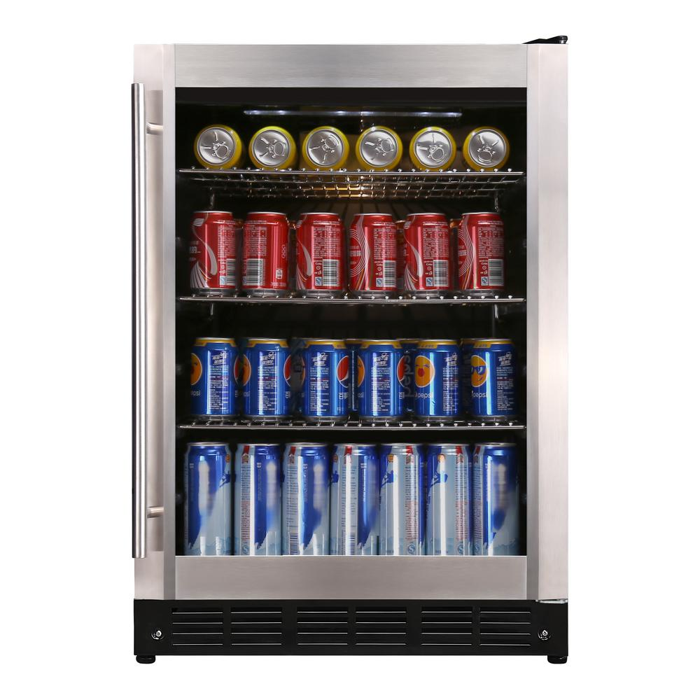 Magic Chef Beverage 23 4 In 154 12 Oz Can Beverage Cooler Stainless Steel Hmbc58st The Home Depot Beverage Refrigerator Magic Chef Beverage Cooler