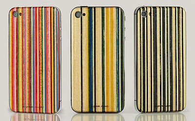 skateback by grove recycles raw skateboard waste into Iphone cases