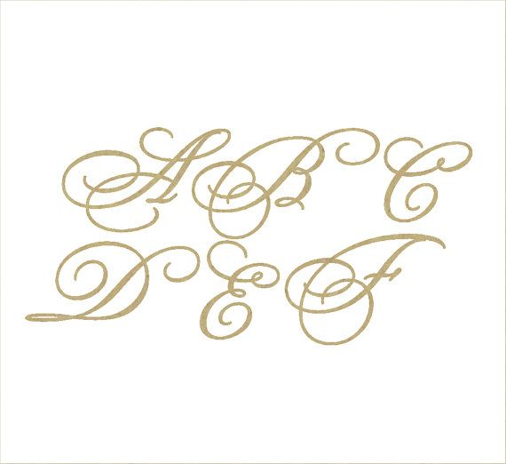 Unfinished Wooden Letters In The Bickham Script Fancy 2 Font Style
