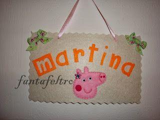 Fanta Feltro - www.fantafeltro.it: Targhetta fuoriporta Peppa Pig