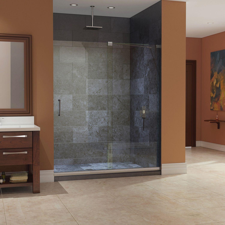 DreamLine Mirage Frameless Sliding Shower Door And SlimLine 30 X 60 Inch  Single Threshold Shower Base