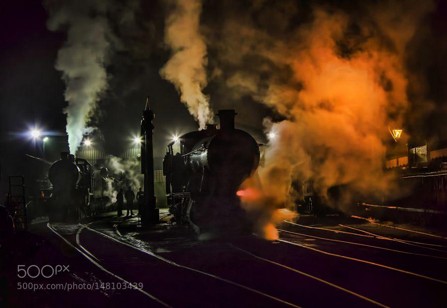Steam on fire Bridgnorth. by ronaldlines