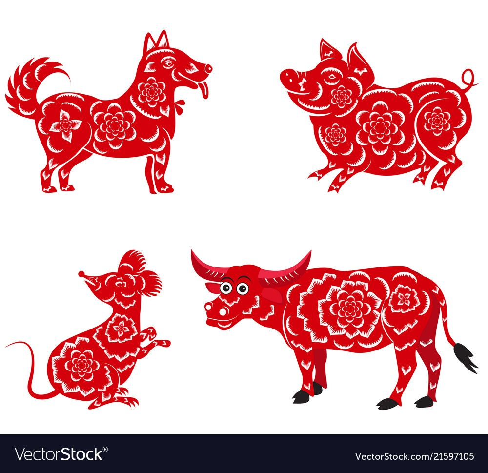 Happy chinese new year 2018 2019 2020 2021 with vector