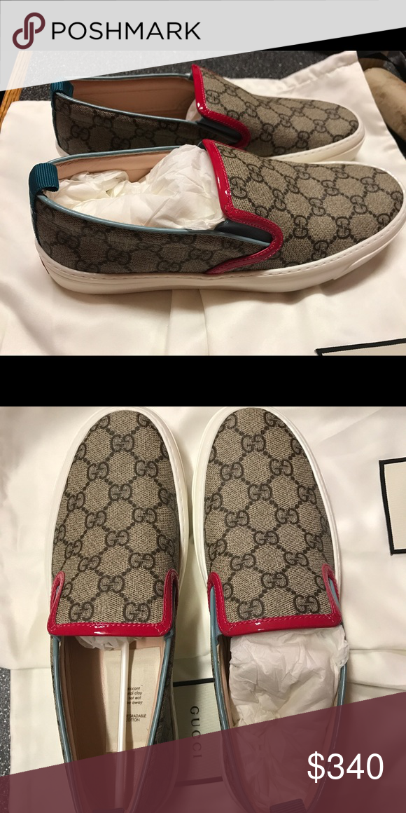 Womens Gucci Slip Ons They Were Never Worn Too Big Shoes Sneakers