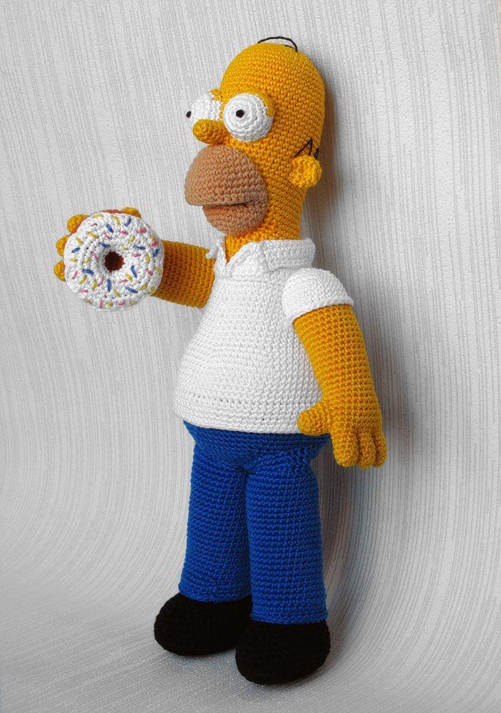 Homer Simpson Crochet Toy | Ganchillo, Tejido y Patrones amigurumi