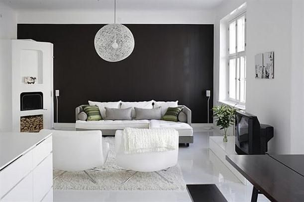 Stylish home black and white interiors comedores sal n for Comedores para el hogar