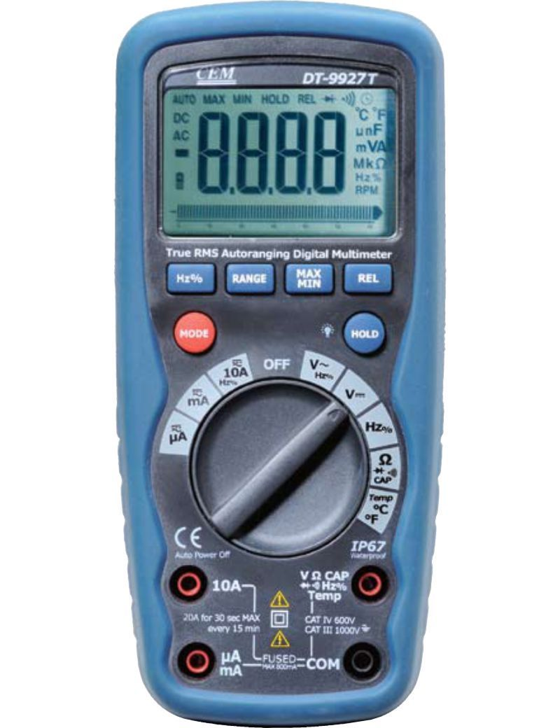 Rugged Design Versatile T Rms Auto Ranging Multimeter Dt 9927t These Meters Have The Features Needed To Find Most Electrical Electro Mechan Multimeter Digital
