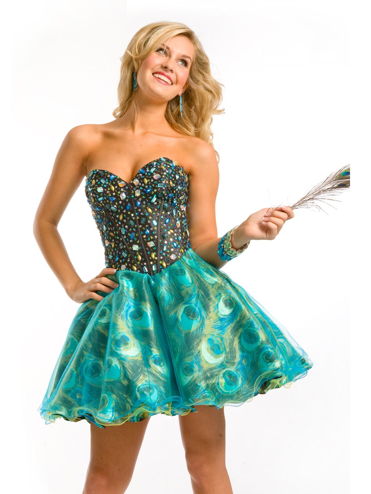 Fashion forward exotic short prom dress Party Time Formals 6791. For ...