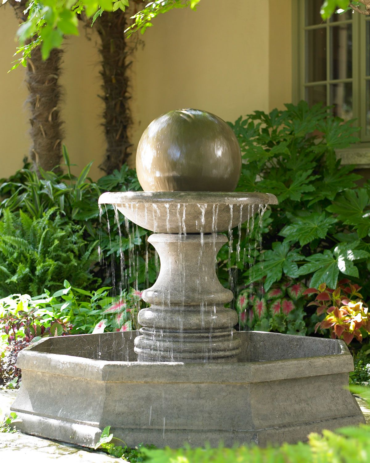 Sphere Fountain Horchow Fountains Outdoor Garden Fountains Outdoor Garden Fountains