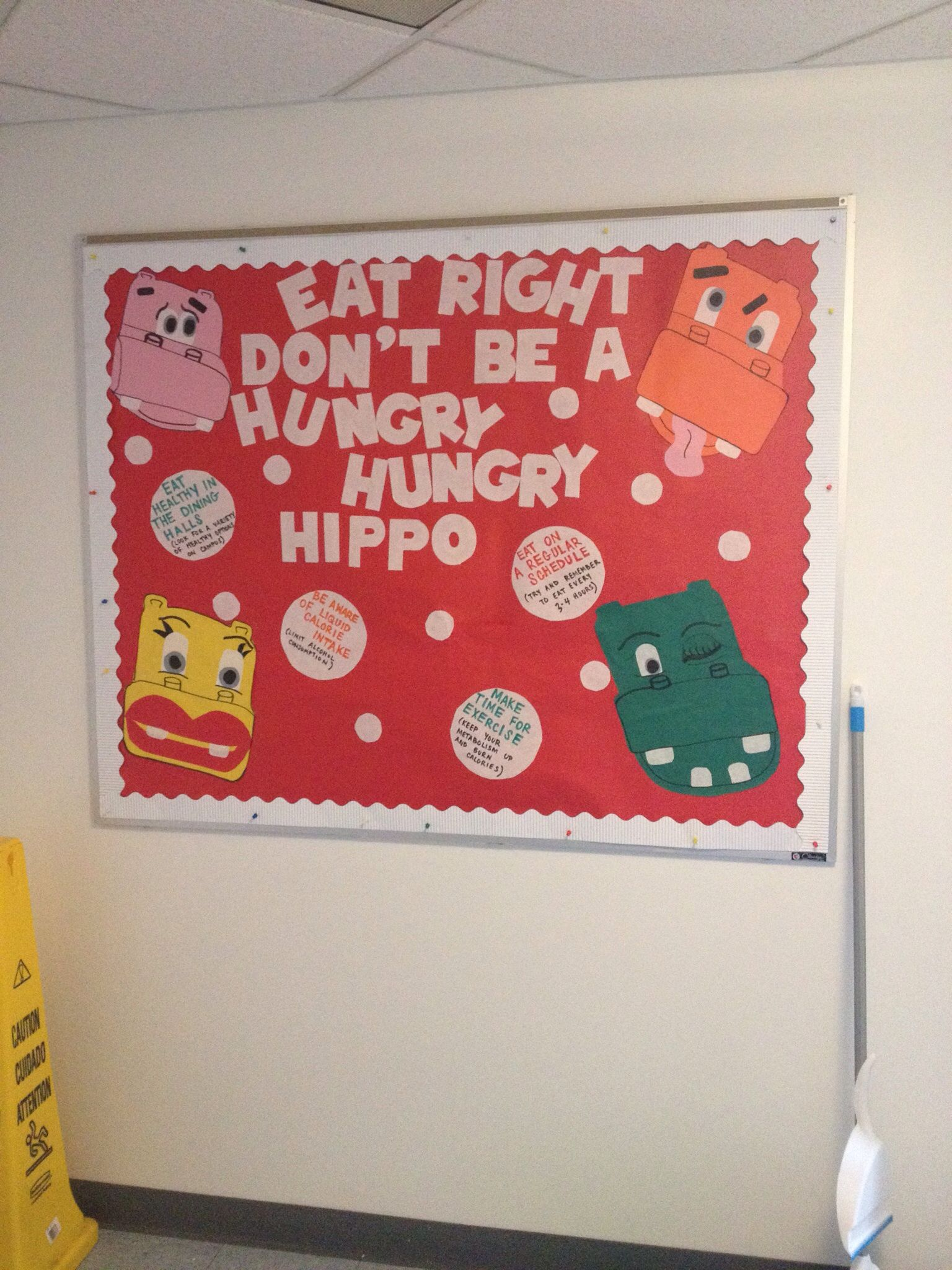 Dont be a hungry hippo eat right bored hungry